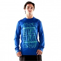 MONS ROYALE ORIGINAL LS CREW BLUE BIRD