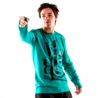 MONS ROYALE ORIGINAL CREW TEAL GREEN