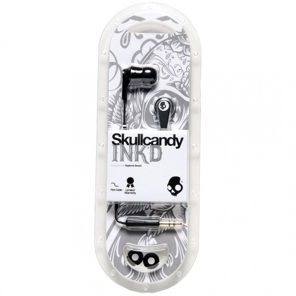 SKULLCANDY INK'D ECOUTEUR NOIR/ARGENT