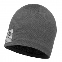 Buff KNITTED & POLAR HAT SOLID GREY CASTLEROCK