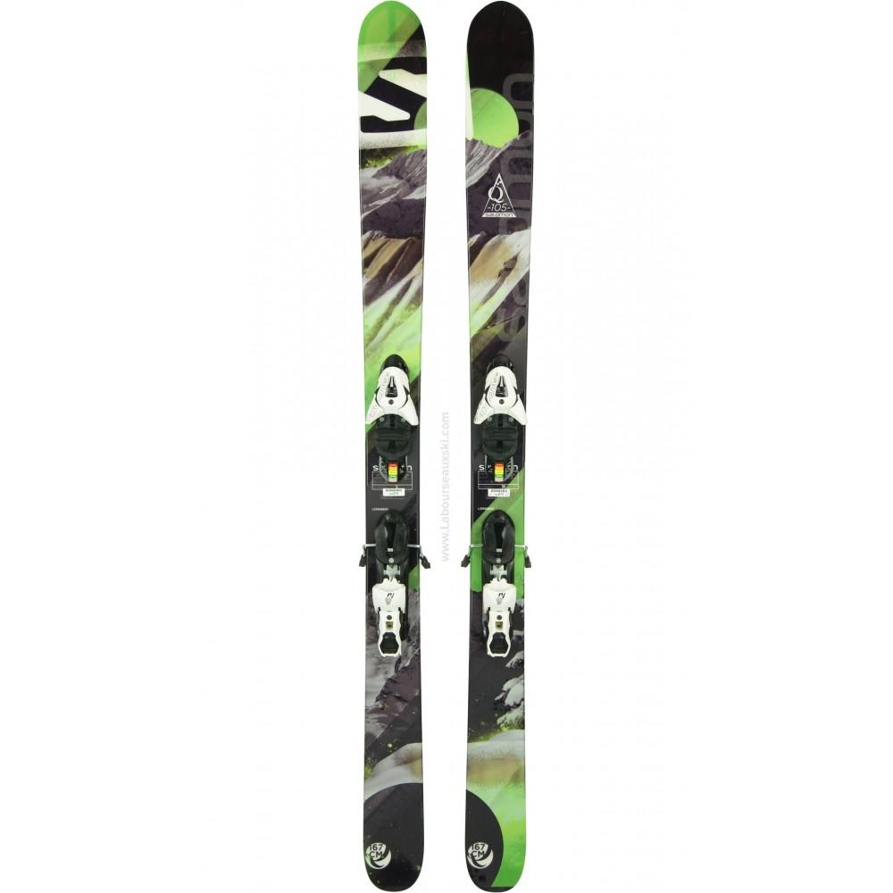 ski occasion salomon q 105 skis d 39 occasion. Black Bedroom Furniture Sets. Home Design Ideas