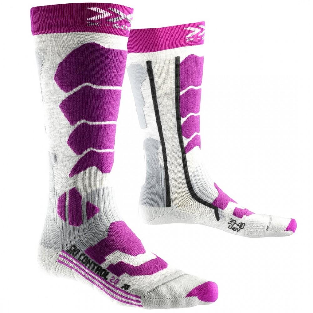 X-Socks SKI CONTROL 2.0 WOMEN GRISE