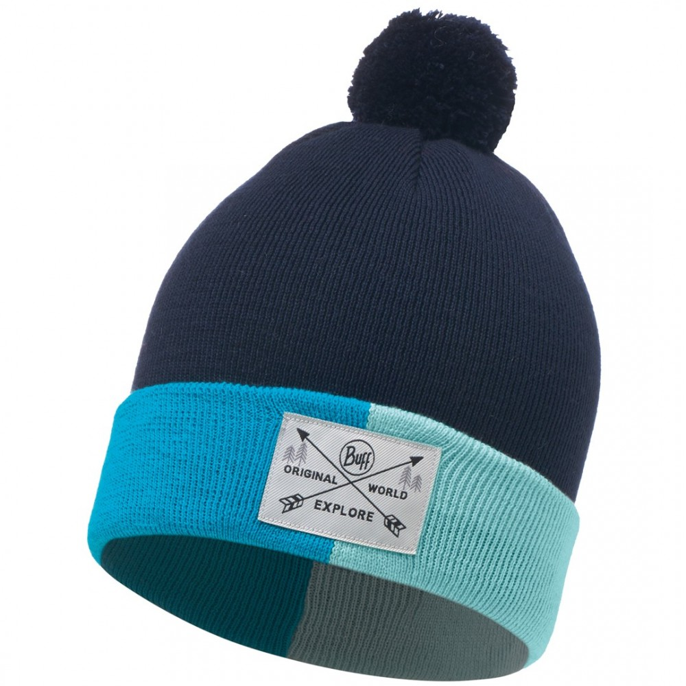 BUFF KNITTED JR HAT KELDA MEDIEVAL BLUE