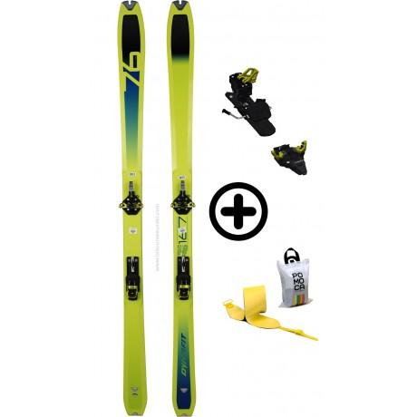 DYNAFIT SPEED 76+SPEEDFIT+PEAUX - skis d'occasion Dynafit - 2