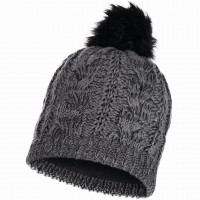 BUFF KNITTED & POLAR HAT DARLA GREY PEWTER