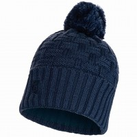 BUFF KNITTED & FLEECE HAT AIRON DARK DENIM