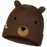 BUFF CHILD KNITTED HAT FUNN BEAR FOSSIL
