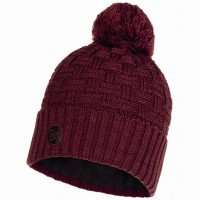 BUFF KNITTED & POLAR HAT AIRON MAROON