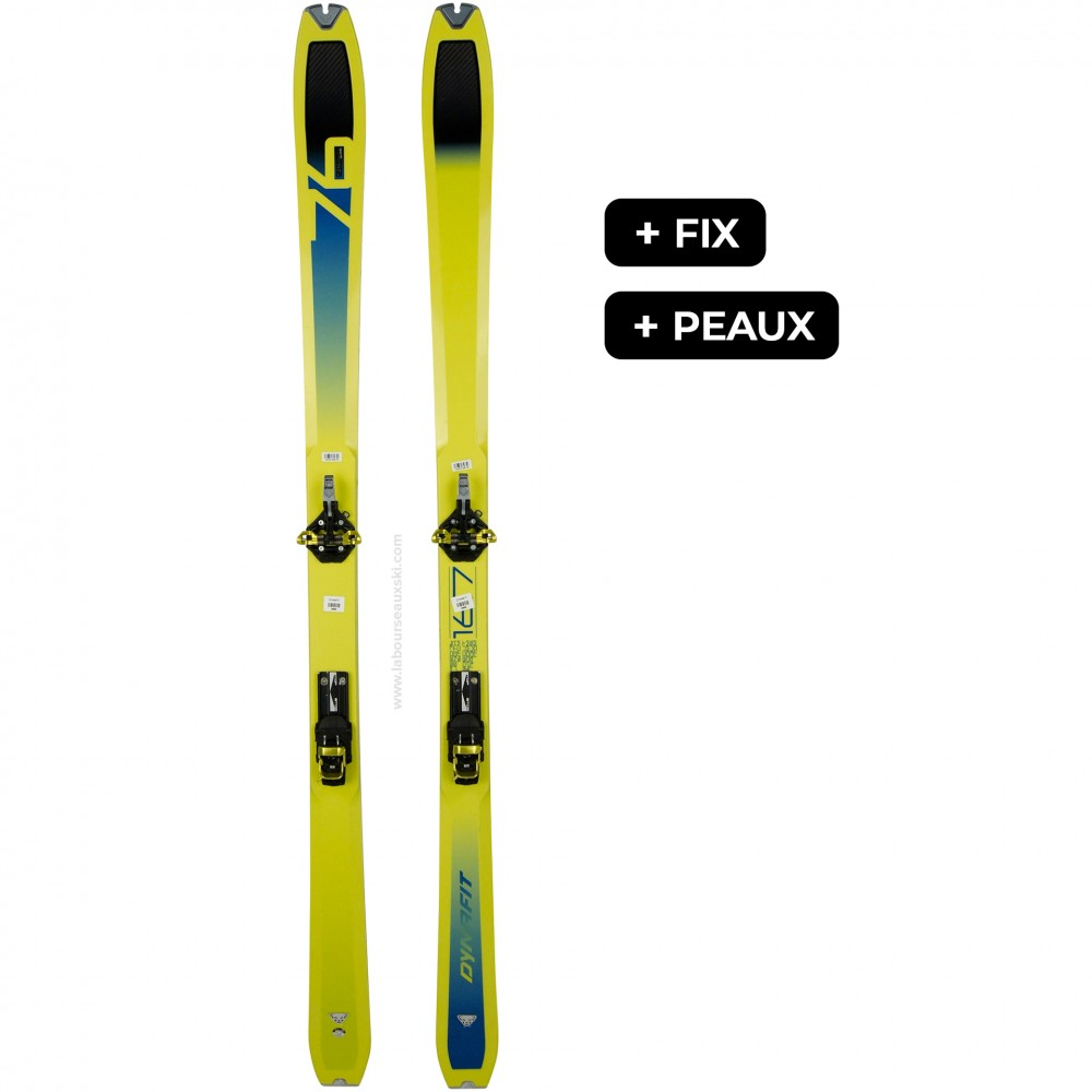 DYNAFIT SPEED 76+SPEEDFIT+PEAUX - skis d'occasion