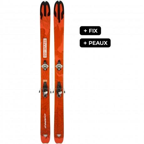 DYNAFIT HOKKAIDO + RADICALST + PEAUX - skis d'occasion