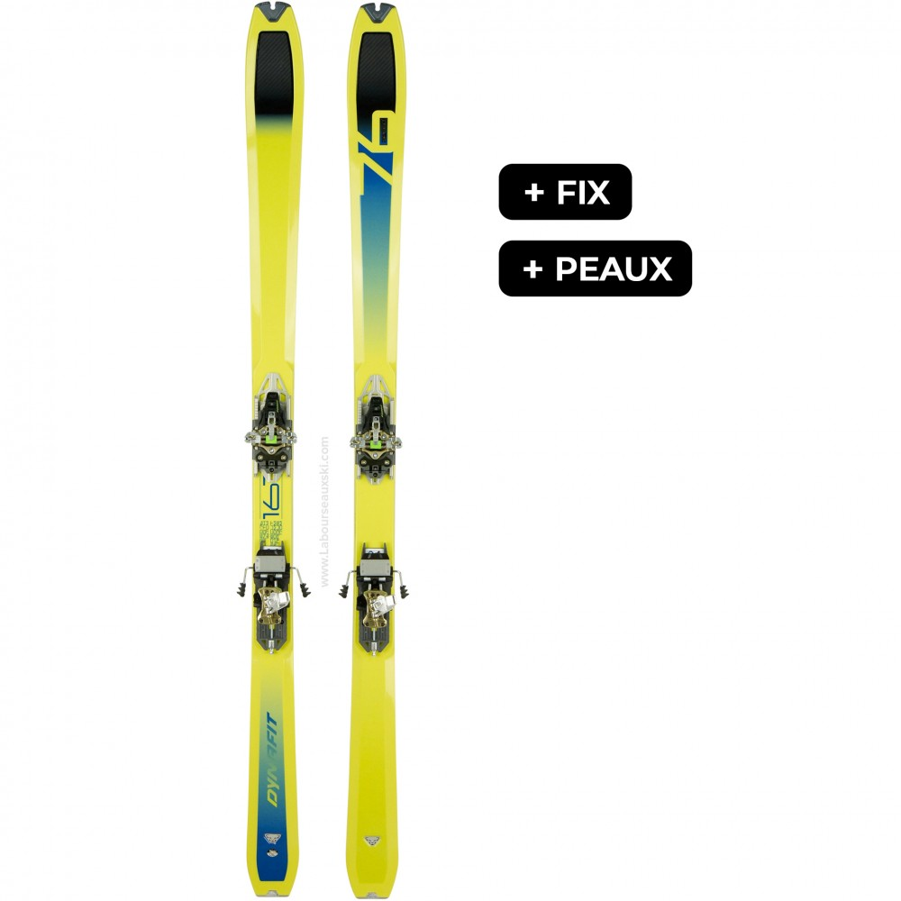 DYNAFIT SPEED 76 FIX+PEAUX - skis d'occasion