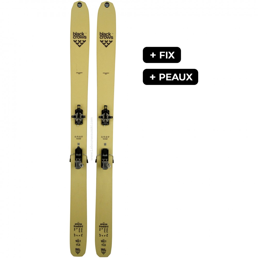 BLACK CROWS ANIMA FREEBIRD + PEAUX - skis d'occasion