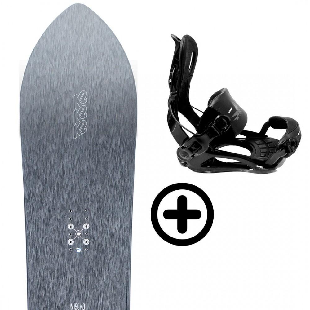K2 NISEKO PLEASURES 2021 + FIX K2 Snowboard - 1