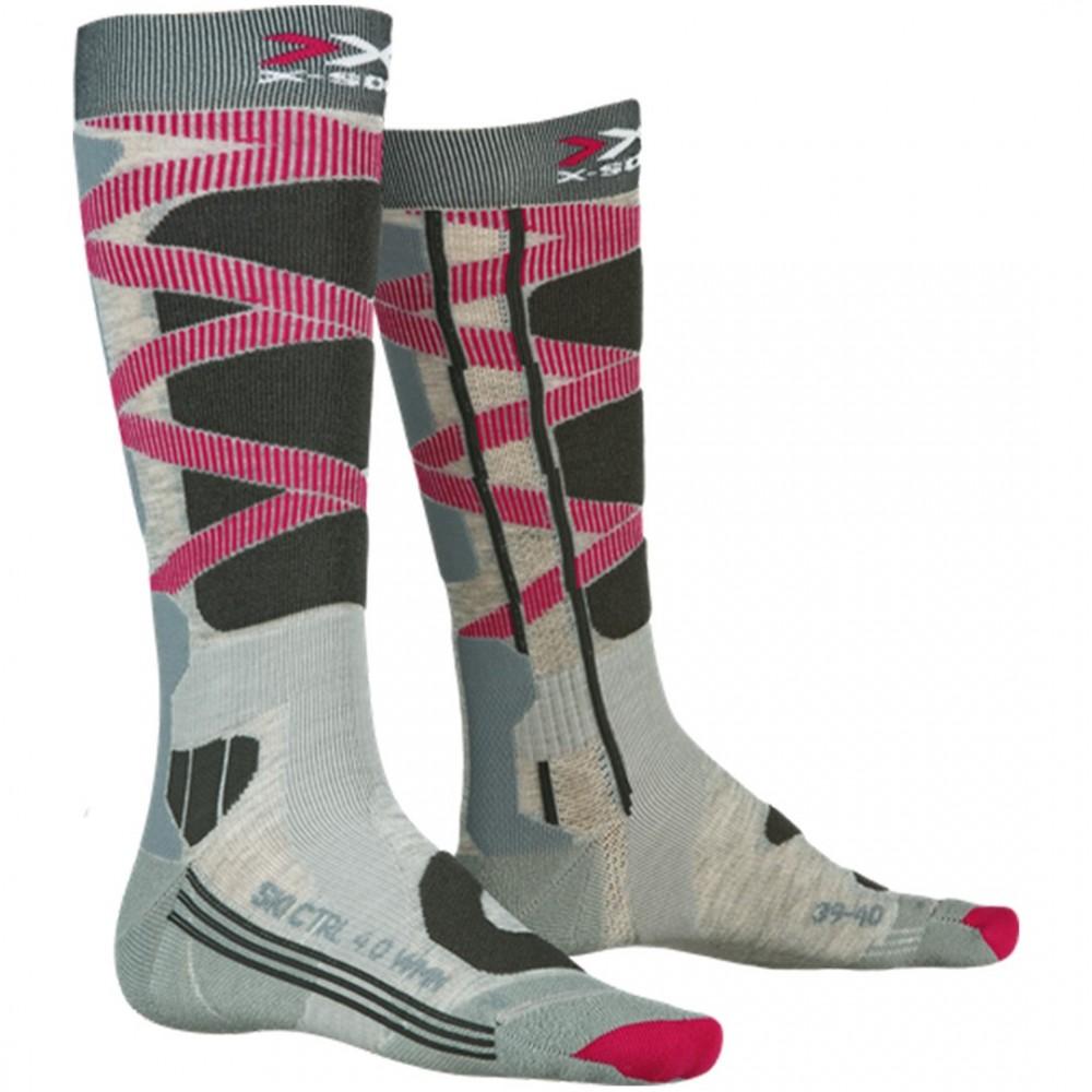X-Socks SKI CONTROL LADY 4.0 GR/RO