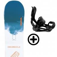 K2 DREAMSICLE 2021 + FIX K2 Snowboard - 1